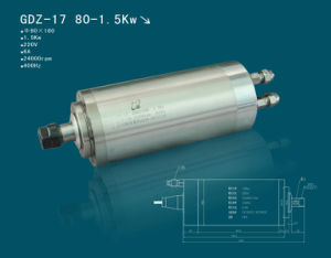 Hqd Hanqi 1.5kw High Speed CNC Router Spindle Motor (GDZ-17)