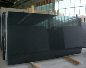Polished Black Granite Tile, Hebei Black Granite Tile Slab pictures & photos