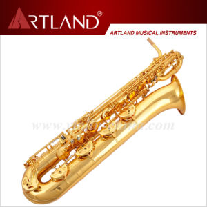 Eb Key Golden Lacquer Finish Professional Baritone Saxophone (ABS5506) pictures & photos