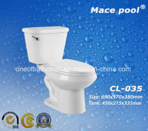 Two-Piece Type Ceramic Toilets Water Closets (CL-035) pictures & photos