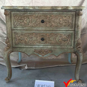Side Storage Antique Wood Carved Cabinet pictures & photos