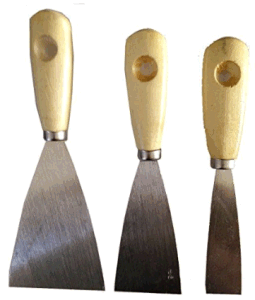 Wood Handle Mirror Polished Putty Knife Set pictures & photos