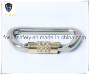Cold Formed Steel Carabiner of Yellow Zinc Plating pictures & photos