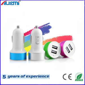 Portable Dual USB Car Charger for Mobile Phone/ iPad