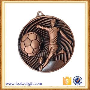 Die Cast Zinc Alloy 3D Logo Engraving Football Medal pictures & photos