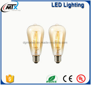 ST64 tungsten warm light energy efficient LED lighting bulb pictures & photos