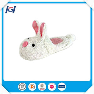 Novelty Cute Soft Bunny Cartoon Stuffed Animal Slippers pictures & photos