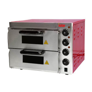 2 Decks Electric Red Color Pizza Oven Baking machine Commercial Pizza Oven pictures & photos
