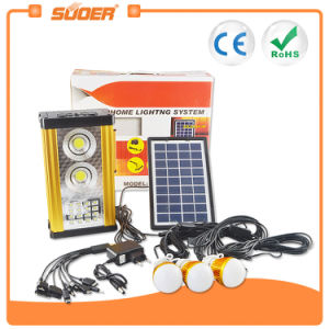 Suoer 5W Home Solar PV Panel Energy Power Lighting System (658) pictures & photos
