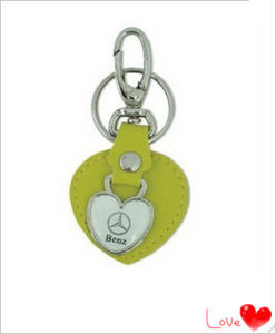Custom Car Leather Keychain with Metal (YB-LK-08) pictures & photos