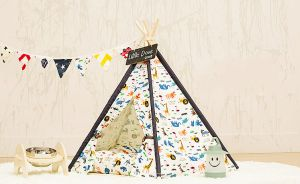 Soft Pet Tent Outdoor Wooden Teepee Washable Durable Foldable Small Dog and Cat Tent Dog Bed pictures & photos
