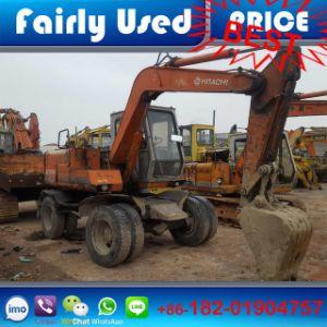 Original Used Hitachi Ex60wd Excavator of Hitachi Small Wheel Excavator pictures & photos