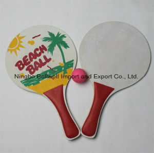 Beach Racket with Wooden Material Safe Grade Eco-Friendly pictures & photos
