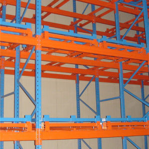 Heavy Duty Push Back Pallet Rack for Warehouse Storage pictures & photos
