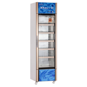 308L Vertical Glass Single Door Showcase with PVC Door Seal pictures & photos