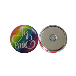 Mini Cute Round Shape Custom Printed Tin Metal Fridge Magnet pictures & photos
