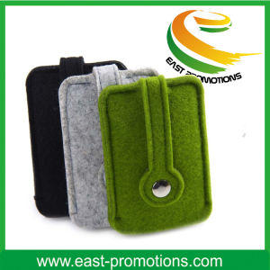 Promotional Custom Printed Small Felt Phone Pouch pictures & photos