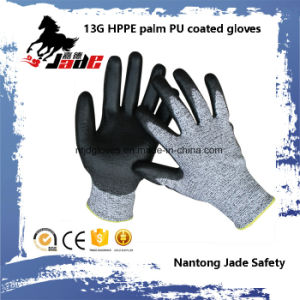 13G Black PU Coated Industrial Gloves Level Grade 3 and 5 pictures & photos