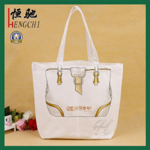 Cotton Canvas Women Handle Fashion Bag with Fashion Printing pictures & photos