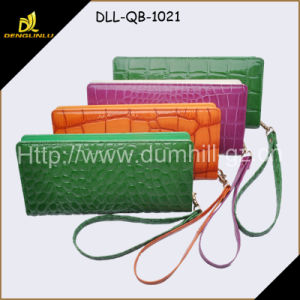 PU Ladies Hand Made Purse Srist Strap Wallet pictures & photos