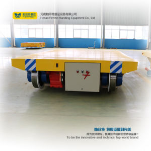 Factory Use Cable Reel Powered Electric Rail Handling Transfer Cart pictures & photos