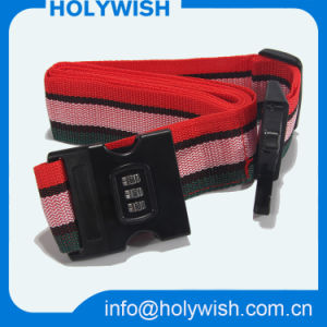 Custom Bright Color Woven Luggage Strap Free Logo Design