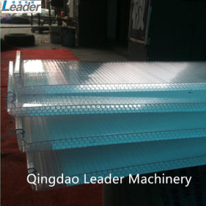 U-Type Hollow Polycarbonate PC U-Lock Sheets Extrusion Line pictures & photos
