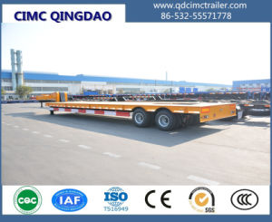 Cimc 35-45tons Double Axles Low Loader Semi Trailer Truck Chassis pictures & photos