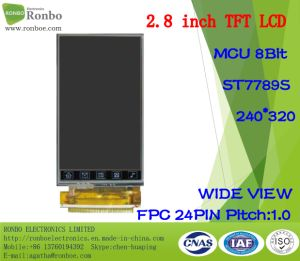 "2.8"" 240*320 MCU 8bit 24pin, St7789V, Wide View TFT LCD Display pictures & photos"