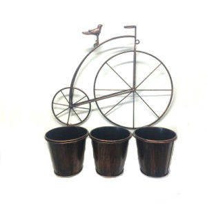 Hot Selling Decoration Metal Tricycle Garden Flowerpot Craft pictures & photos