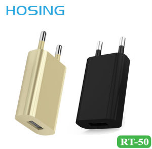 1A EU Plug Home Charger with Gold/ White/ Black Color pictures & photos