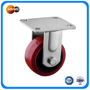 Heavy Duty Top Rigid Plate Polyurethane Casters pictures & photos