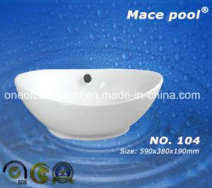 White Ceramic Art Basin (104) pictures & photos
