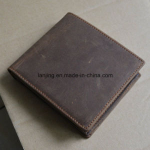 Leather Wallet with Zipper Pocket Men′s Real Leather Pocket Wallet pictures & photos
