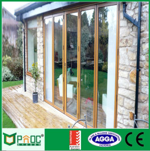 Double Glazing Aluminium Glass Folding/Bifold Door/Bifolding Doorwith Fly Screen Pnoc001bfd pictures & photos