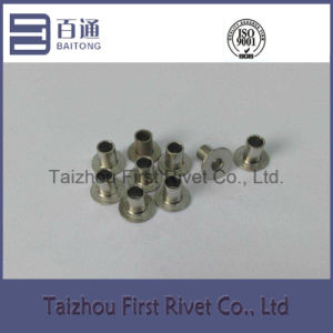 5X6.5mm Nickel Plated Flat Head Fully Tubular Steel Rivet pictures & photos