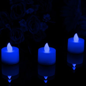 Blue LED Flameless Tealight Candles Tea Lights Electric Flame pictures & photos