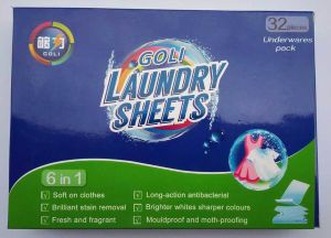 Eco-Friendly Non Woven Fabric Material Laundry Sheet (underwares pack) pictures & photos