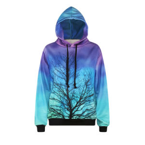 Bonded Jersey to Polar Fleece Two-Side Wear Hoodie pictures & photos