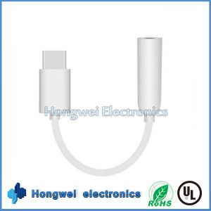 PVC Male USB to 3.5mm Audio Jack Adapter USB Cable for iPhone7/6/5 pictures & photos