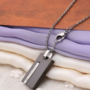 Jewelry Fashion Charm Neckalce Men Stainless Steel Square Pendant pictures & photos