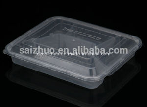 800ml 4 Compartment Disposable Plastic Food Container (SZ-006) pictures & photos