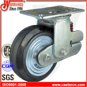 16X4 Heavy Duty Shock Absorbing Casters with Polyurethane Wheel pictures & photos