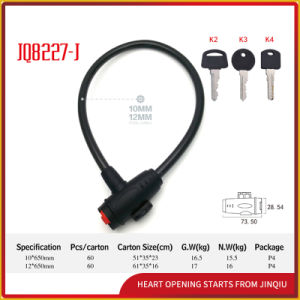 Jq8227-J High Quality Steel Cable Lock Bicycle Lock pictures & photos