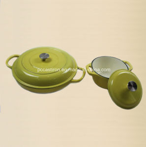 4PCS Cast Iron Cookware Set in Enamel Coating pictures & photos