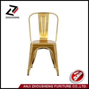 Glossy Gold Metal Stackable Tolix Style Industrial Chic Dining Bistro Cafe Chairs pictures & photos