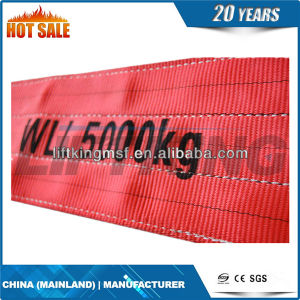 Polyester Flat Webbing Sling/Lifting Sling Belt for Steel Pipe pictures & photos