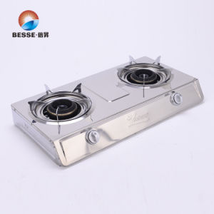Stainless Steel Double Burner Gas Stove, Blue Fire pictures & photos