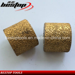 D45mm Vacuum Brazed Bush Hammer Grinding Rollers for Marble Stone pictures & photos