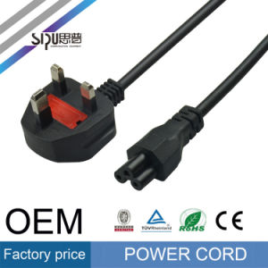Sipu Plug UK Power Cable for Laptop Electrical PVC Wires pictures & photos